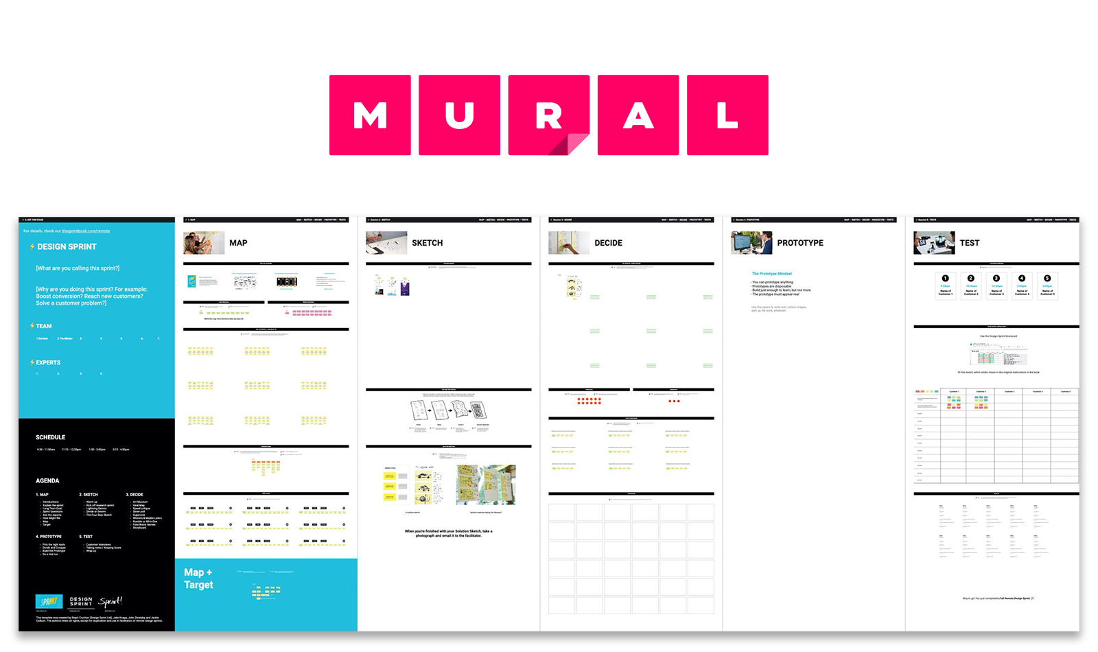 The official Design Sprint template Template for MURAL