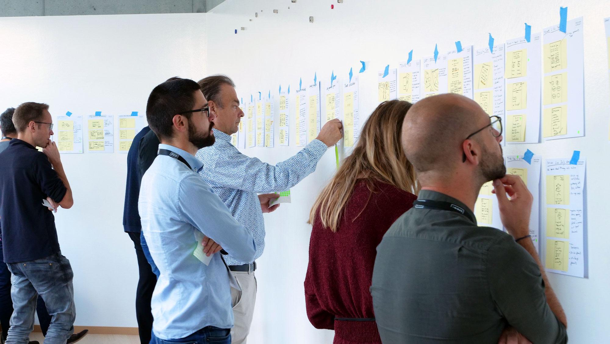 Design Sprint - Solution Sketches Yuh bank